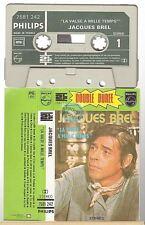 JACQUES BREL cassette K7 tape LA VALSE A MILLE TEMPS double durée