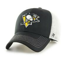 Pittsburgh Penguins hat cap new nwt NHL '47 Brand Adjustable black logo