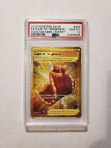 Pokémon Cape of Toughness (Secret Rare)   Vivid Voltage 200/185   PSA 10