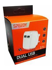 2.1 Amp Dual USB Mains Fast Charger Plug For iPad Air 1 2 /Mini 2 3/ iPad 2 3 4