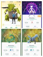 Pokemon Account Go Shiny Groudon, Mewtwo Kyurem Virizion Rayquaza Dragonite