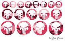 Punisher Aufkleber set xxl Punisher Sticker skull decal camouflage pink xs bh 9