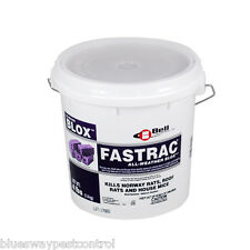1 BUCKET OF FASTRAC BLOX 4 LBS. BY BELL LABS (RODENT BAIT POISON)