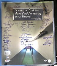 New York Yankees Greats Autographed 16x20 Photo w/. (37) Signatures, PSA/DNA LOA