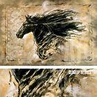 "36W""x24H"" BLACK BEAUTY by MARTA WILEY - MAJESTIC HORSE ABSTRACT LEPA ZENA CANVAS"