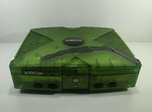 Microsoft Xbox Original Console Only Halo Green Tested Read Description