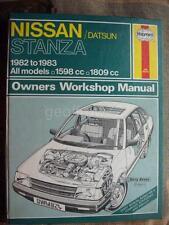 Haynes Workshop Manual Nissan Datsun Stanza 82-83 1.6 1.8 2.0 GL SGL Deluxe XE