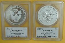 2013-W Silver Eagle West Point Mint Set - MOY SIGNED FS - PCGS MS70/PR70