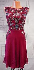 Frock and Frill It's Meant to Bead Dress Berry Sz US 10 12  Retro Fit Flare