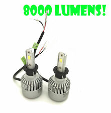 H3 COB LED FOG-LIGHT BULBS KIT 8000lm CANBUS For Vauxhall CORSA B/C TIGRA VECTRA