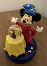 More details for vintage disney mickey mouse wizard battery magic alarm clock collectable.  #d*