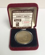 HIGHLAND MINT BRONZE MEDALLION EMMITT SMITH LIMITED EDITION COIN       Q-38