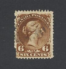 "CANADA 1868, 6c ""WITH CONSTANT VARIETY"" LARGE QUEEN, BOTHWELL, VF USED Sc#27var"