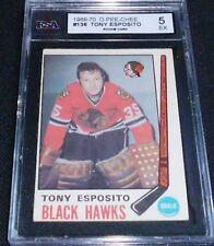 TONY ESPOSITO  1969-70 #138 O-PEE-CHEE HOCKEY CARD , KSA GRADED