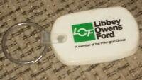 Libbey-Owens-Ford keychain key ring TOLEDO OHIO FACTORY EMPLOYEE PROMO vintage