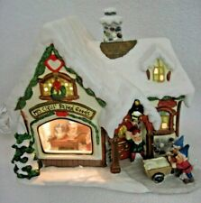 LIGHTED MRS. CLAUS BAKED GOODS STORE NORTHERN WONDERLAND COLLECTION HOLIDAY TIME