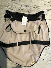 designer dog trenchcoat For Pet Only, Beige and Black Coat Size M