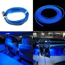 5M EL Wire Blue Cold light Neon Lamp Atmosphere Decor Car interior Accessories