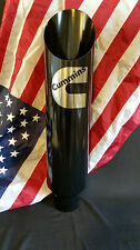 """Diesel Exhaust Stack w/Custom Logo - 5"""" inlet 7"""" outlet 36"""" long Angle Cut-Black"""