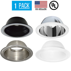 "6"" INCH RECESSED CAN LIGHT WHITE BAFFLE TRIM REPLACES HALO 310W R/PAR30"