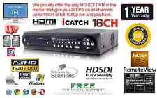 16 Channel HD-SDI True Full HD 1080P DVR H.264 1920X1080 @ 480FPS HDMI, Netwrok