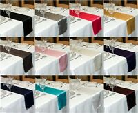 SATIN TABLE RUNNER 280cm LONG x 23cm WIDE 30+ COLOURS CHRISTMAS WEDDING PARTY UK