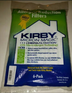 Kirby Micron Magic HEPA FILTER Vacuum Bags - Pack of 6 - Brand NEW!!