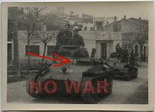 WWII ORIGINAL GERMAN PHOTO TANK W EMBLEM ON MARCH LEGION CONDOR WAR IN SPAIN