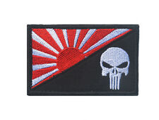 Japan flag Patches ARMY MORALE BADGE Embroidery HOOK PATCH     LH  837