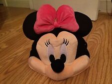 NEW! WDW MINNIE MOUSE Pink PLUSH HAT +GLASSES Walt Disney World Parks HALLOWEEN