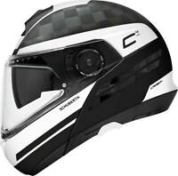 Schuberth C4 Pro Tempest Carbon Black White - Many sizes! - Fast& Free Shipping