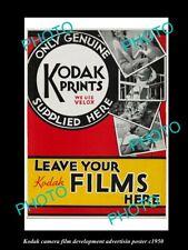 OLD 6 X 4 HISTORIC PHOTO OF KODAK CAMERA FILM ADVERTISING PHOTO c1950 1