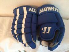 "Warrior Bully Hockey Gloves 13"" Royal Blue and White Maple Leafs - EUC ~ Nice!"