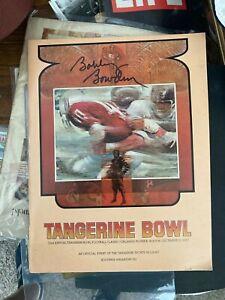 1st FSU Bowl WIN 1976 W Bobby Bowden AUTOGRAPHED TANGERINE CITRUS BOWL PROGRAM