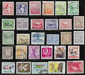 HICK GIRL- BEAUTIFUL USED BOLIVIA STAMPS     VARIOUS ISSUES        T110