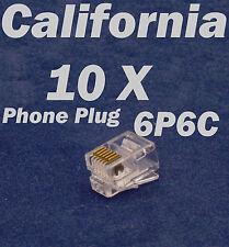 10 X Pcs RJ12 Plug 6P6C Phone Modular Telephone Connector Adapter DSL Crimp RJ11