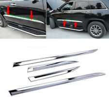 fit JEEP Grand Cherokee 2014-2018 Chrome Body Side Door Molding Line Cover Trim