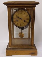 Antique Crystal Regulator Mantel Clock - New York