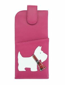 Mala Leather Best Friends Collection Soft Slim Leather Glasses Case 5144_65