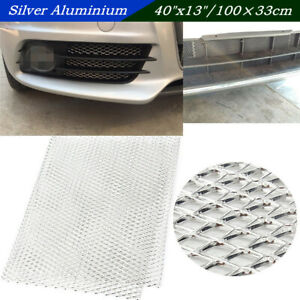"""40""""x13"""" Silver Aluminium Automobile Grille Mesh Vent Car Tuning Grill 3mm*6mm"""