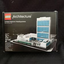 LEGO ARCHITECTURE UNITED NATIONS HEADQUARTERS 21018 BOX INCLUDED