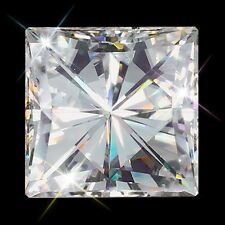 jem: Loose GRADE AAA 5mm x mm Lab-Created Princess Cut Swiss Diamond