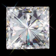 jem: Loose GRADE AAA 5mm x mm Lab-Created Princess Cut Swiss Diamond