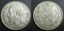 BELGIQUE - 5 FRANCS - 1869 - LEOPOLD II - Argent