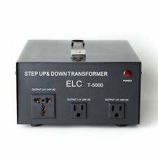 New Elc T-5000 5000 Watt Voltage Converter Transformer Step Up/Down (110V/220V)