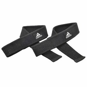 Adidas Weight Lifting Straps Wrist Wrap Power Training Heavy Duty Hand Support