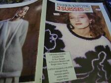 3 Suisses Evening Collection Knitting Book- 22 Mohair/Glitter Designs - Sizes 32