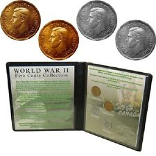 World War II Five Cents Coin Collection in Collectors Folder (WW2 WWII)