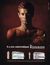 PUBLICITE ADVERTISING  1965   RONSON  briquet automatique