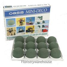 Mini Oasis Mousse Humide frais déco dômes adhésif base 5 cm x 3cm Pack de 12